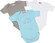 BABYBODY-SET 3-teilig - Taupe/Blau, Textil (50/56) - MY BABY LOU