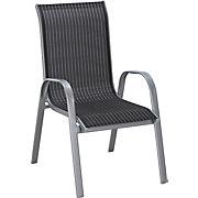 STAPELSESSEL Aluminium, Stahl Schwarz, Silberfarben, Weiß - Silberfarben/Schwarz, Design, Textil/Metall (55/96/72cm) - XORA