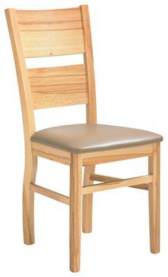 Stuhl In Holz, Textil Braun, Buchefarben
