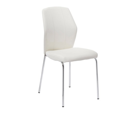 stuhl lederlook chromfarben wei online kaufen xxxlshop. Black Bedroom Furniture Sets. Home Design Ideas