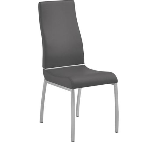Stuhl lederlook edelstahlfarben grau online kaufen xxxlshop for Stuhl modern grau