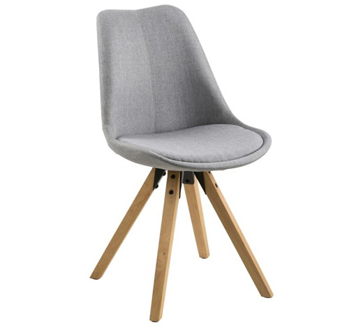 Stuhl webstoff grau online kaufen xxxlshop for Design stuhl grau