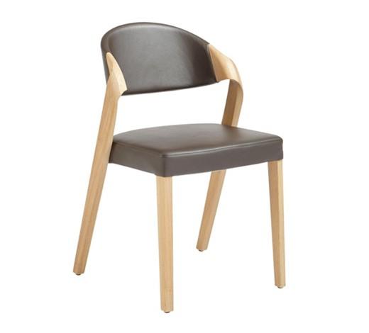 Stuhl echtleder altholz eiche mehrschichtige for Stuhl holz leder design