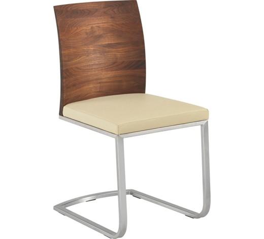 stuhl echtleder nussbaum massiv nickelfarben nussbaumfarben wei online kaufen xxxlshop. Black Bedroom Furniture Sets. Home Design Ideas