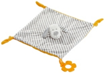 SCHMUSETUCH - Weiß/Grau, Textil (28/28cm) - MY BABY LOU