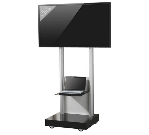 tv rack melamin schwarz silberfarben online kaufen xxxlshop. Black Bedroom Furniture Sets. Home Design Ideas