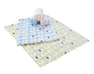 SCHMUSEDECKE 75/100 cm - Rosa/Hellblau, Textil (75/100cm) - MY BABY LOU
