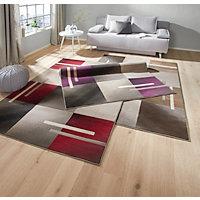 VÄVD MATTA - röd/grå, Design, textil (80/150cm) - BOXXX