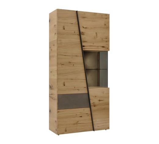 vitrine wildeiche furniert eichefarben grau online kaufen xxxlshop. Black Bedroom Furniture Sets. Home Design Ideas