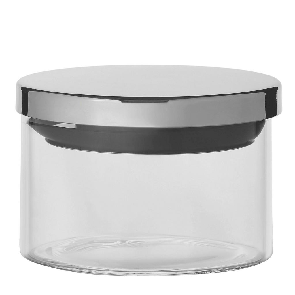 HOMEWARE VORRATSGLAS 0,35 L, Silber, Schwarz