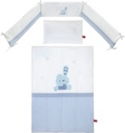 GITTERBETTSET - Blau/Weiß, Textil - MY BABY LOU