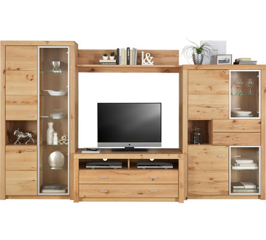 wohnwand wildkernbuche massiv buchefarben online kaufen xxxlshop. Black Bedroom Furniture Sets. Home Design Ideas