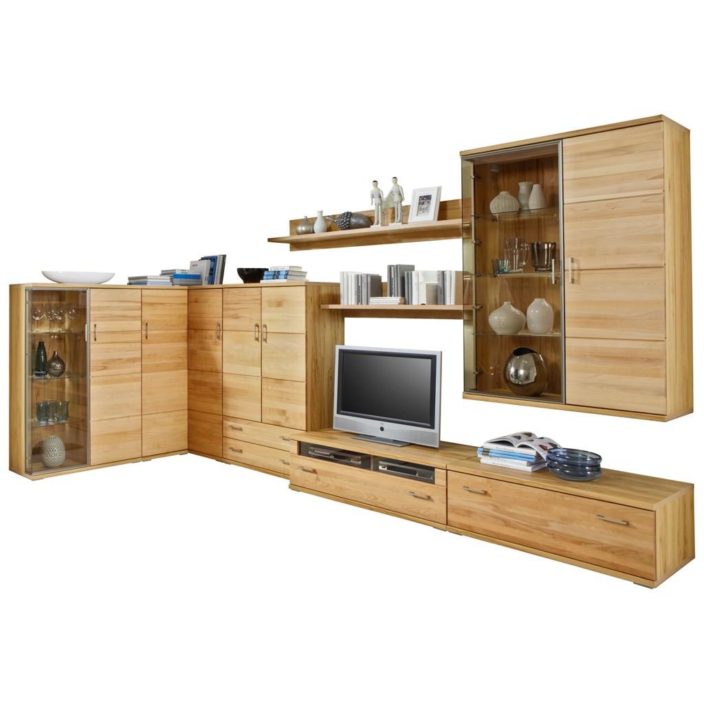 Wohnzimmermöbel Angebote: Wohnwand Kernnussbaum Preisvergleich • Die Besten Angebote