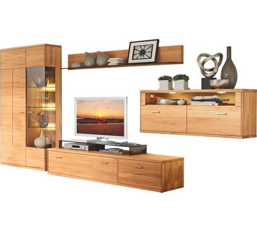 wohnwand kernbuche massiv buchefarben online kaufen xxxlshop. Black Bedroom Furniture Sets. Home Design Ideas