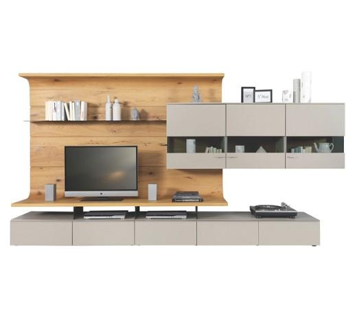 wohnwand eiche furniert eichefarben grau online kaufen. Black Bedroom Furniture Sets. Home Design Ideas