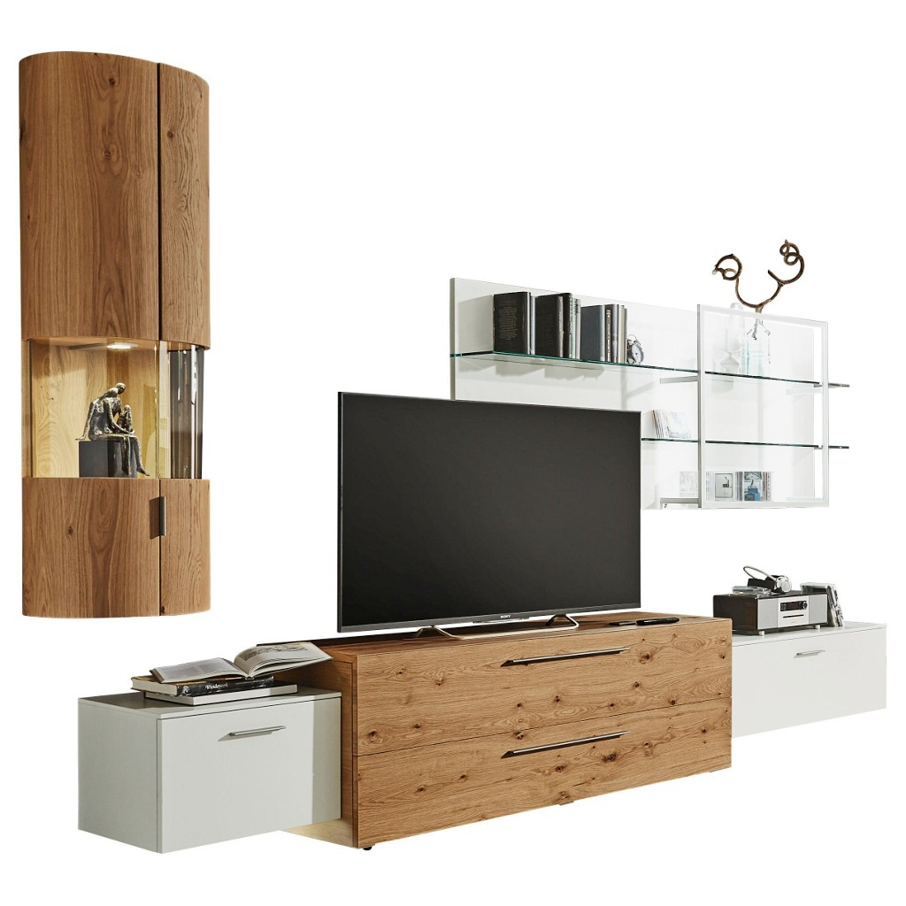 Design wohnwand preisvergleich die besten angebote for Design wohnwand holz
