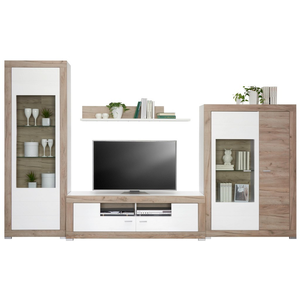 wohnwand weiss glanz preisvergleich die besten angebote online kaufen. Black Bedroom Furniture Sets. Home Design Ideas