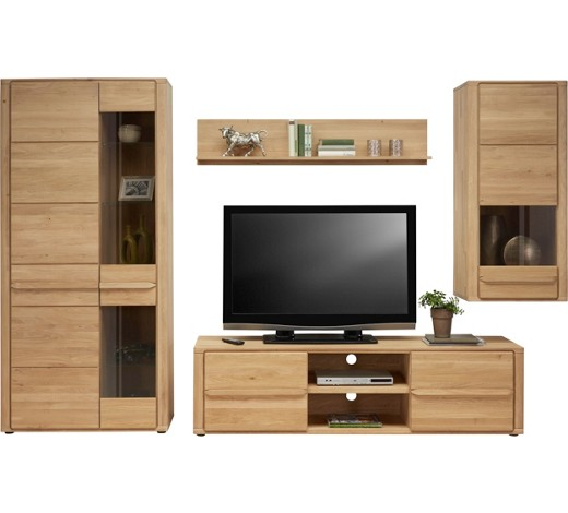 wohnwand wildeiche massiv eichefarben online kaufen xxxlshop. Black Bedroom Furniture Sets. Home Design Ideas