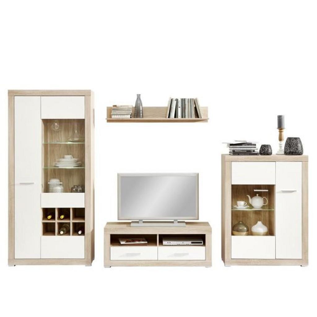 wohnwand baltimore wei preisvergleich die besten angebote online kaufen. Black Bedroom Furniture Sets. Home Design Ideas