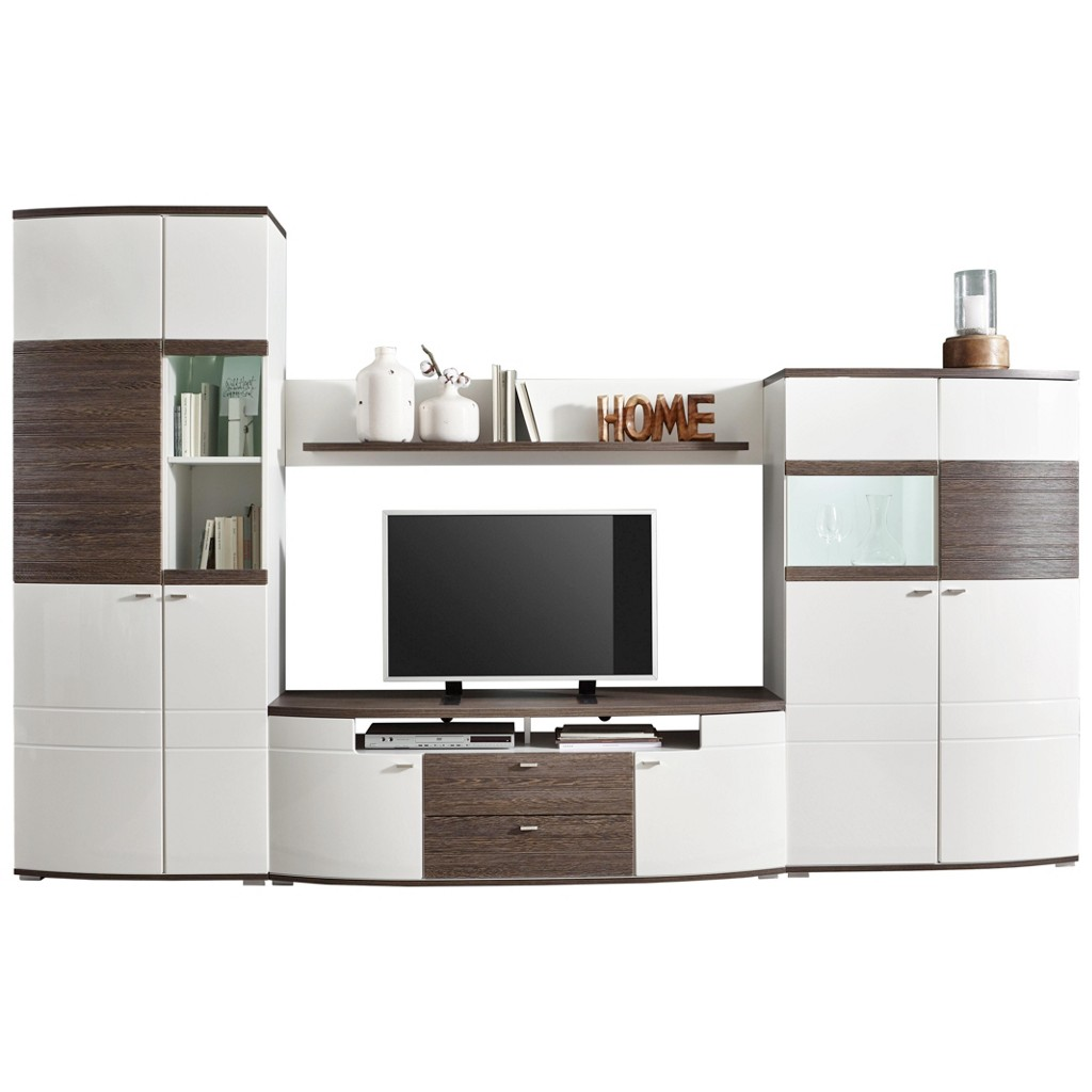 Wohnwand baltimore wei preisvergleich die besten angebote online kaufen - Wohnwand abgerundet ...