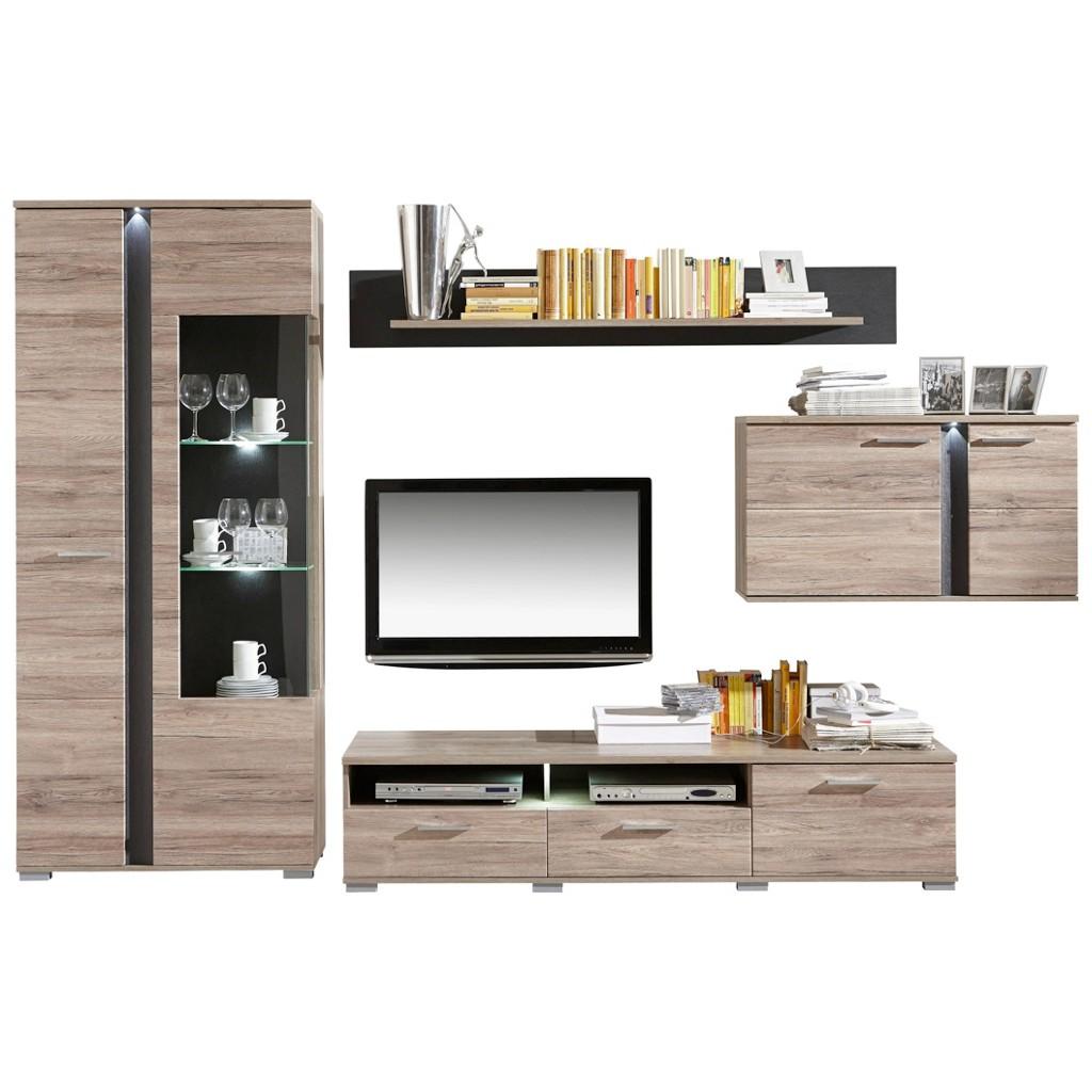 Design wohnwand preisvergleich die besten angebote for Wohnwand schieferfarben