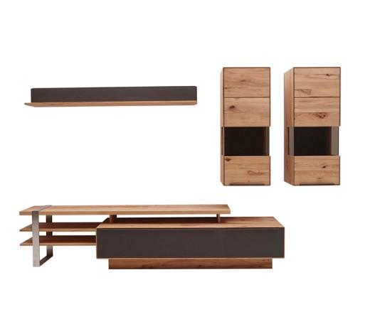 wohnwand buche massiv braun buchefarben online kaufen. Black Bedroom Furniture Sets. Home Design Ideas
