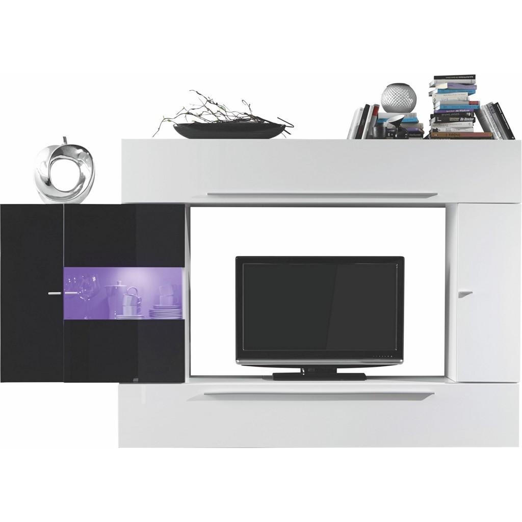 wohnwand schwarz weiss preisvergleich die besten. Black Bedroom Furniture Sets. Home Design Ideas