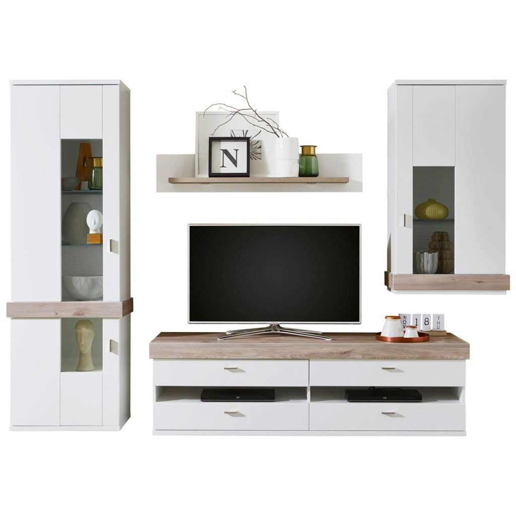 wohnwand kernnussbaum preisvergleich die besten angebote online kaufen. Black Bedroom Furniture Sets. Home Design Ideas