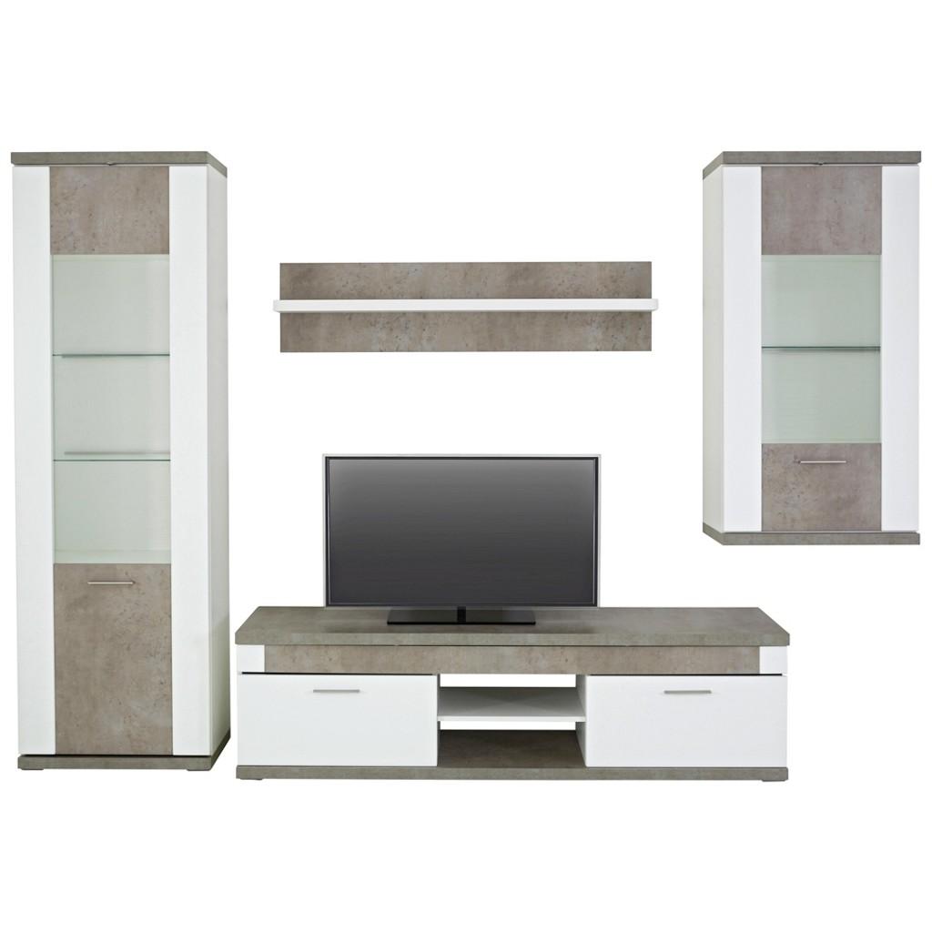 wohnwand wei preisvergleich die besten angebote online. Black Bedroom Furniture Sets. Home Design Ideas