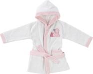 KINDERBADEMANTEL - Rosa/Weiß, Textil (74/80cm) - MY BABY LOU