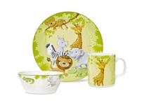 KINDERGESCHIRRSET 3-teilig - Multicolor, Keramik - MY BABY LOU