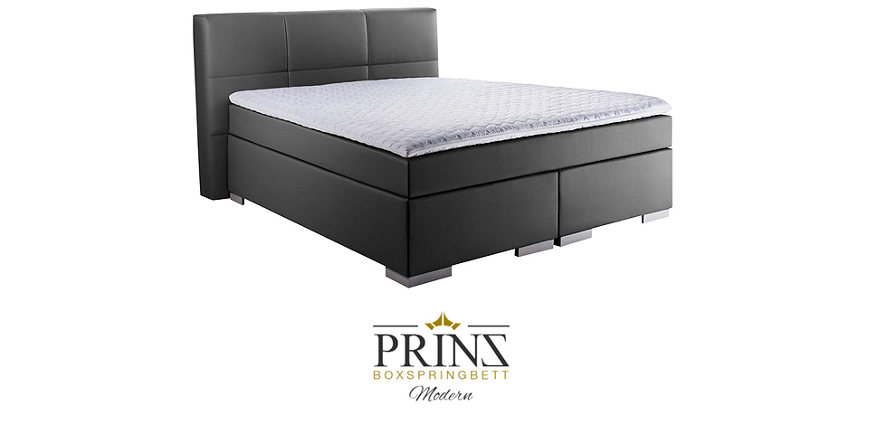 boxspringbett prinz modern. Black Bedroom Furniture Sets. Home Design Ideas